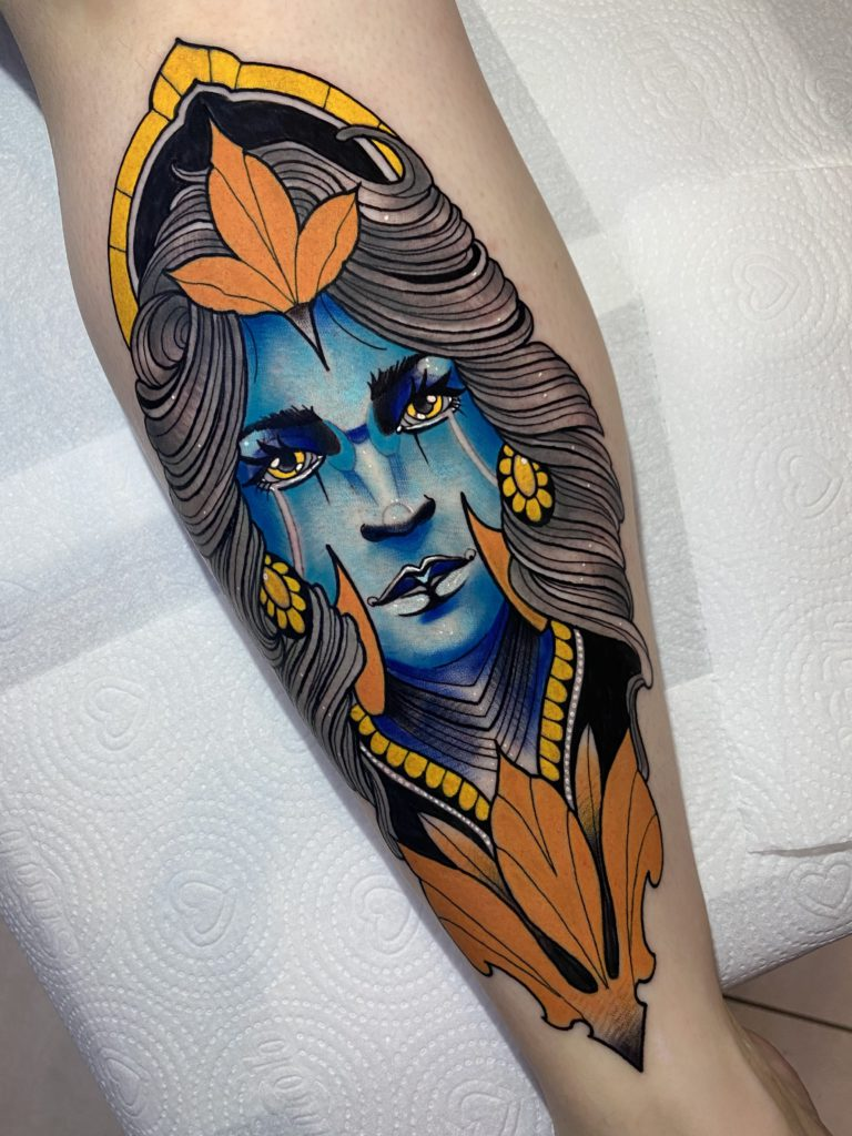 Foto de tatuagem feita por Maurício Eleuterio (@mauriciotattoosp)