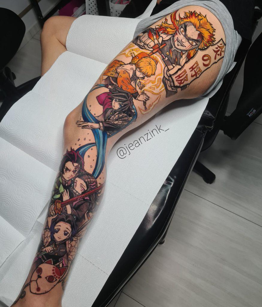 Foto de tatuagem feita por Jean Szimanski (@jeanzink_)