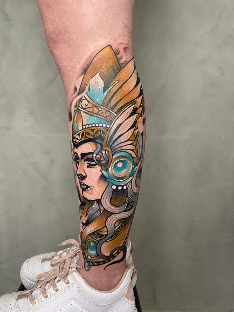 Foto de tatuagem feita por Leonardo Rocha Gasparini (@leeotattooink)