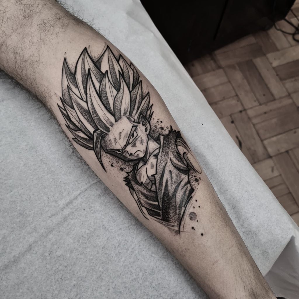Foto de tatuagem feita por Felipe Mosk (@_felipemosk)