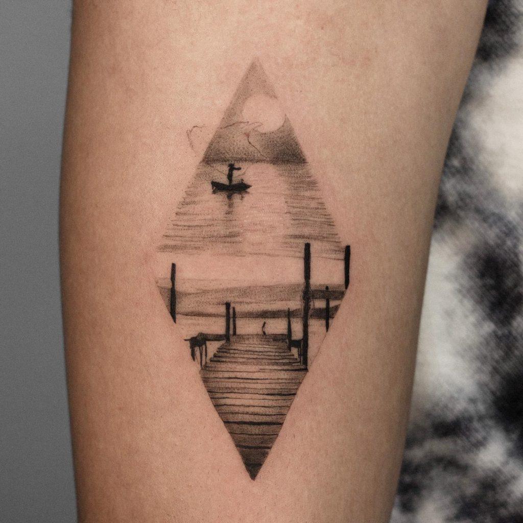Foto de tatuagem feita por Marcos Suzin (@marcossuzin.art)