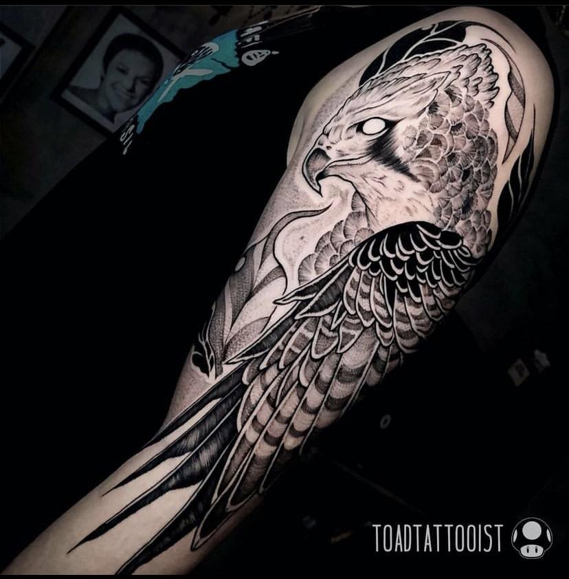 Foto de tatuagem feita por Toad (@toadtattooist)