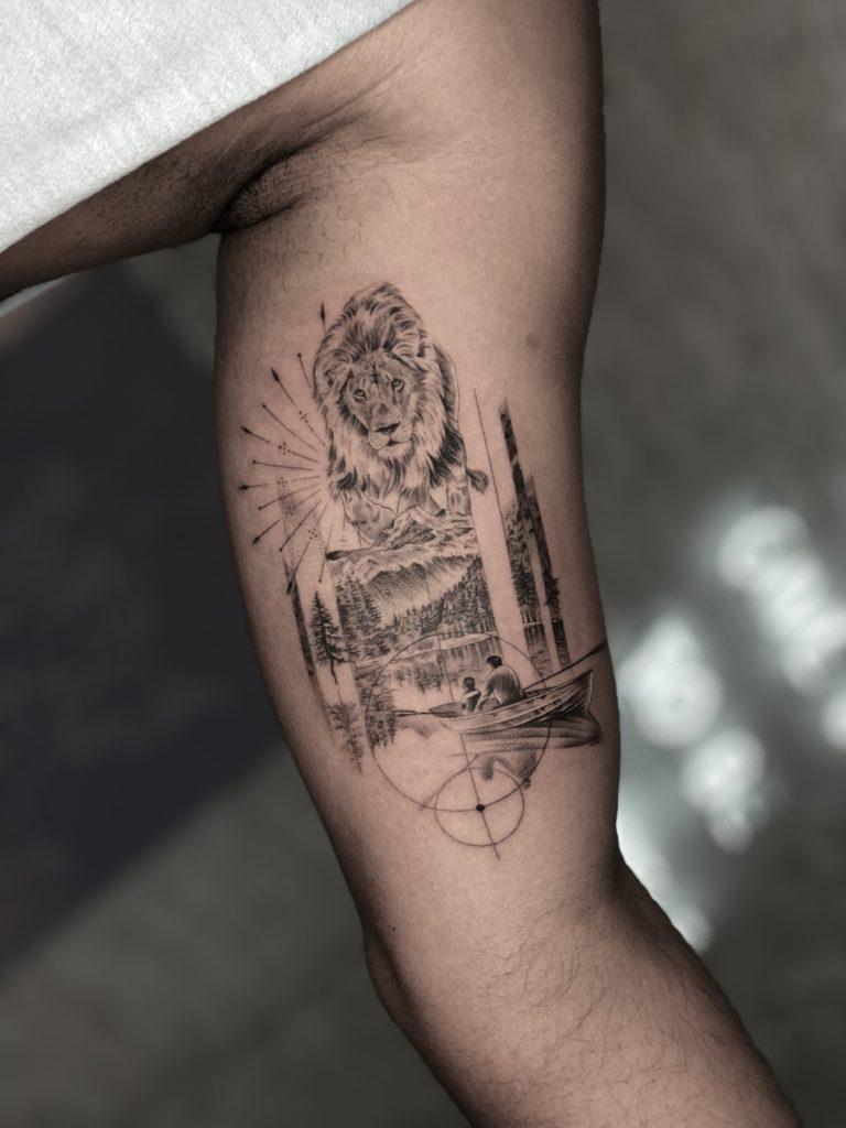Foto de tatuagem feita por Philipe Sans (@philipesans)