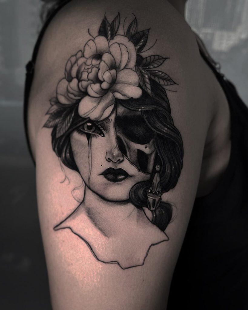 Foto de tatuagem feita por Jess Sena (@jesstatuagem)