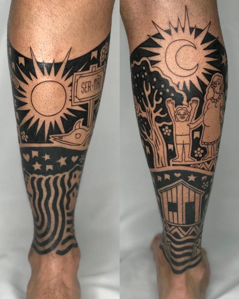 Foto de tatuagem feita por Claudio Barata (@claudiobarata)