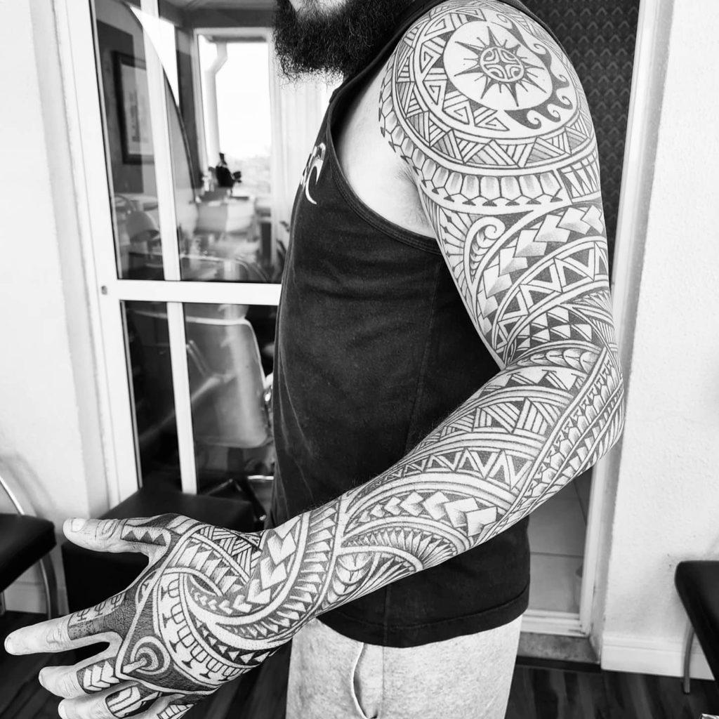 Foto de tatuagem feita por Marcus Parreira (@espiritoaloha)