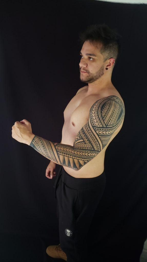 Foto de tatuagem feita por Felipe Black Ink (@felipeblackink)
