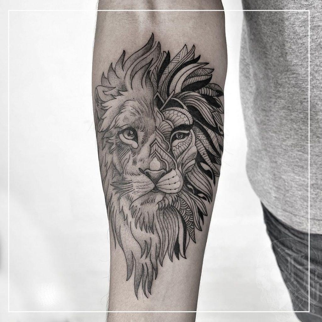 Foto de tatuagem feita por Thi Brandão (@thibrandaotattoo)