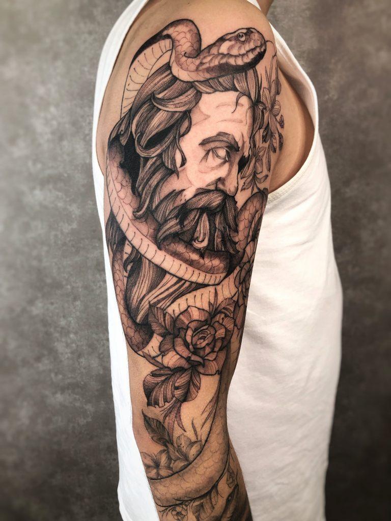 Foto de tatuagem feita por Willian Diaz (@williandiaz.tattoo)