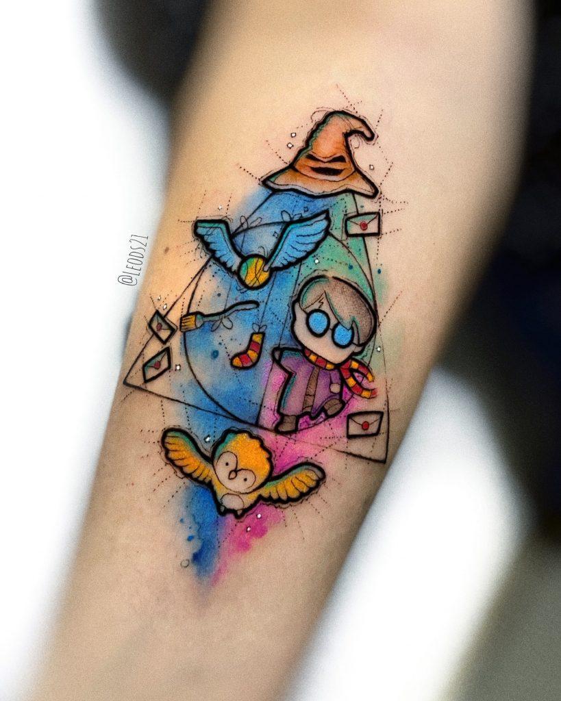 Foto de tatuagem feita por Léo Dionizio (@leods21)