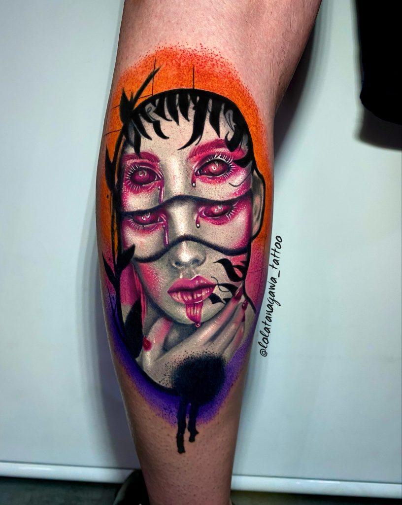 Foto de tatuagem feita por Lola Tanagawa (@lolatanagawa_tattoo)