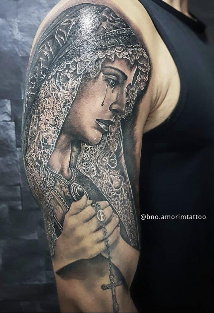 Foto de tatuagem feita por Bruno Amorim (@bno.amorimtattoo)