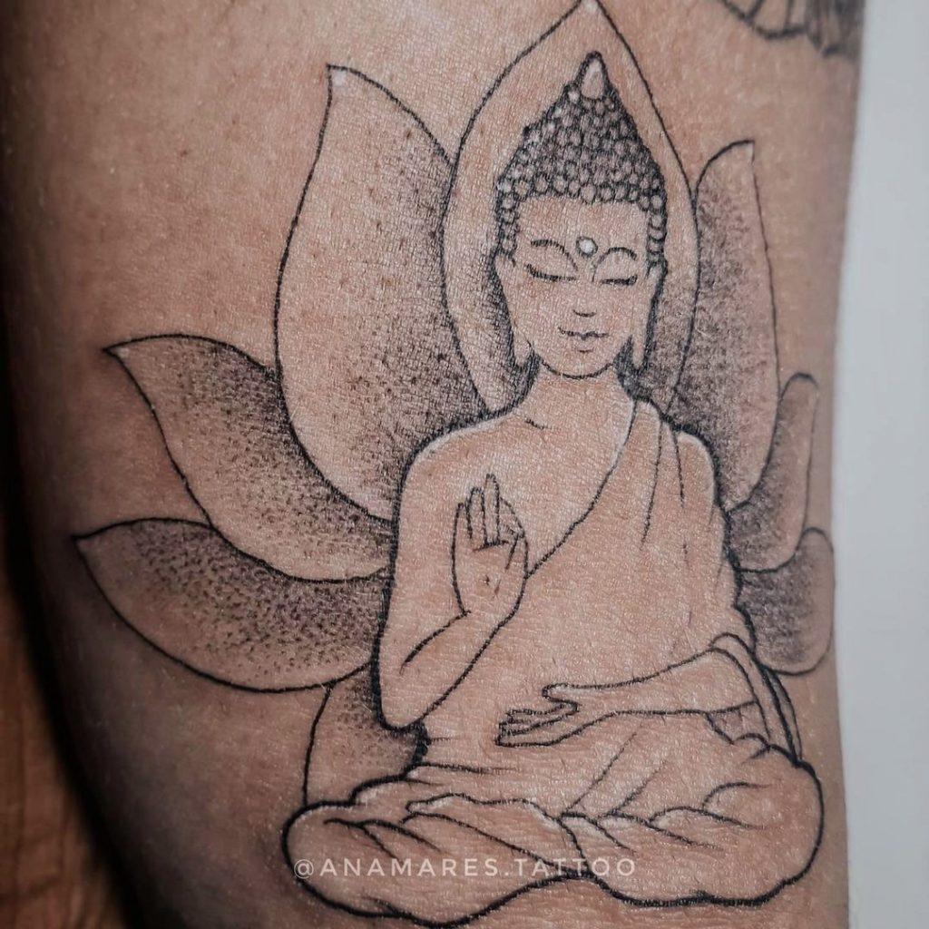 Foto de tatuagem feita por Ana Mares (@anamares.tattoo)