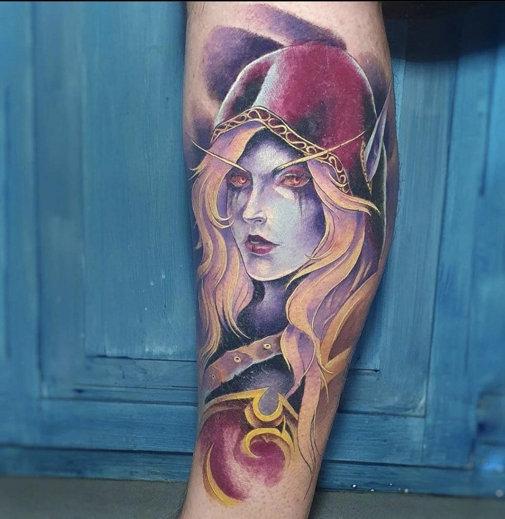 Foto de tatuagem feita por Debora Usagi (@d.usagi)