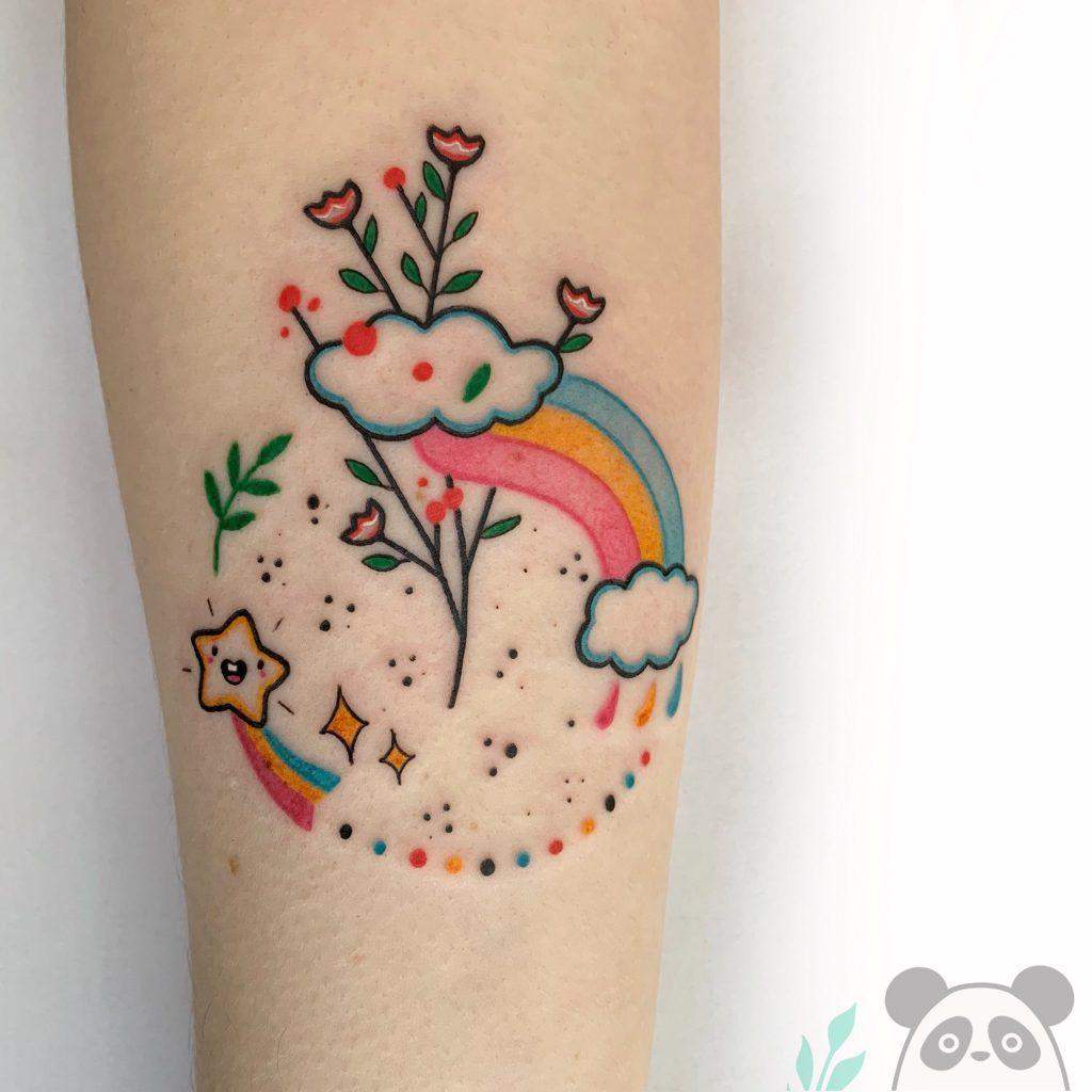 Foto de tatuagem feita por Bona Sunama (@bona.sunama)