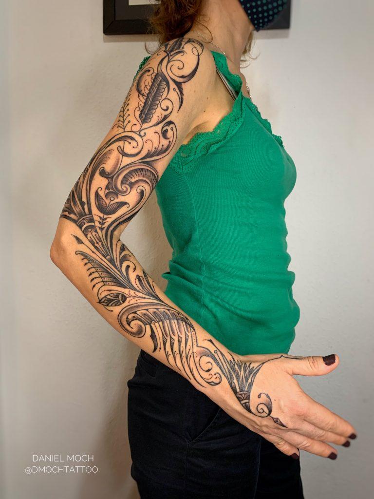 Foto de tatuagem feita por Daniel Moch (@dmochtattoo)