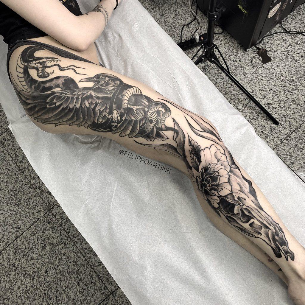 Foto de tatuagem feita por Felippo Gonçalves (@felippoartink)