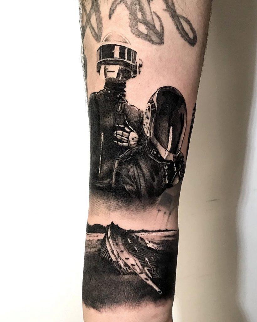 Foto de tatuagem feita por André Boi (@boitattoocwb)