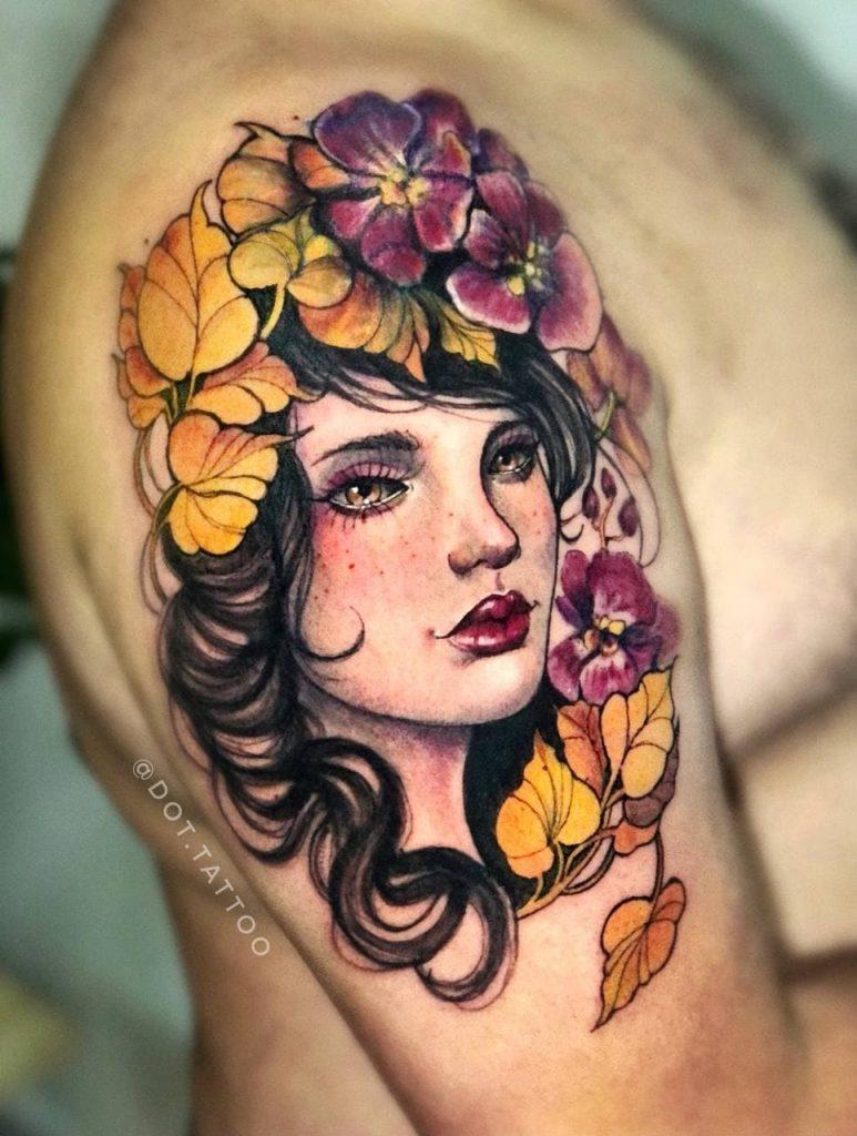 Foto de tatuagem feita por Carina Dot (@dot.tattoo)