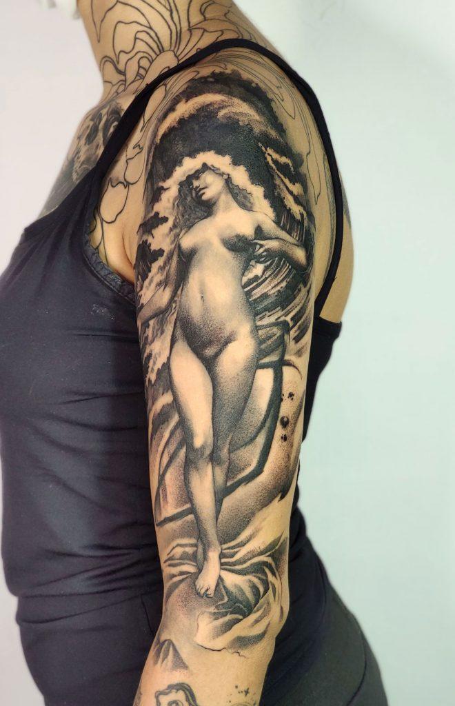Foto de tatuagem feita por Alex Hellsing (@alex.hellsing.tattoo)