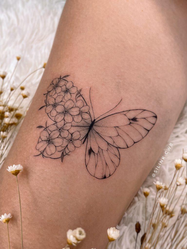 Foto de tatuagem feita por Sil Dobbins (@silink.cwb)