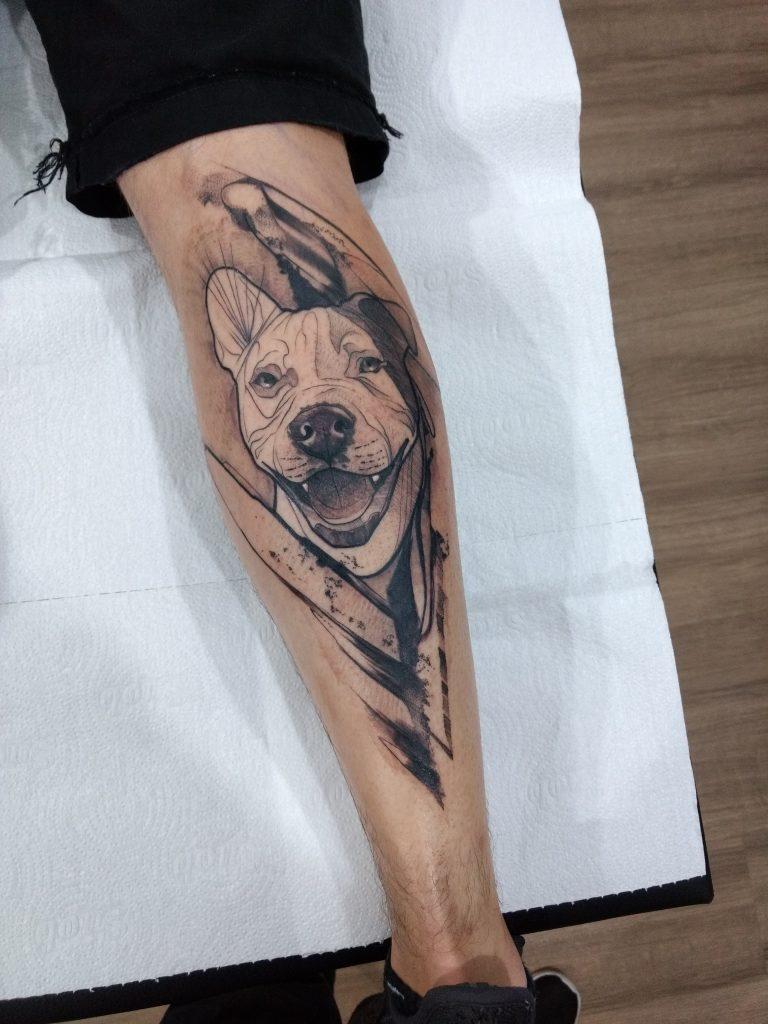 Foto de tatuagem feita por Damaso Gonçalves (@damaso.art)