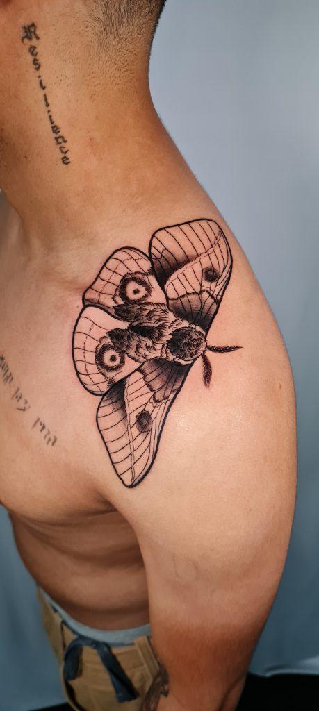 Foto de tatuagem feita por Aline Leal Azevedo (@alinetattoobh)
