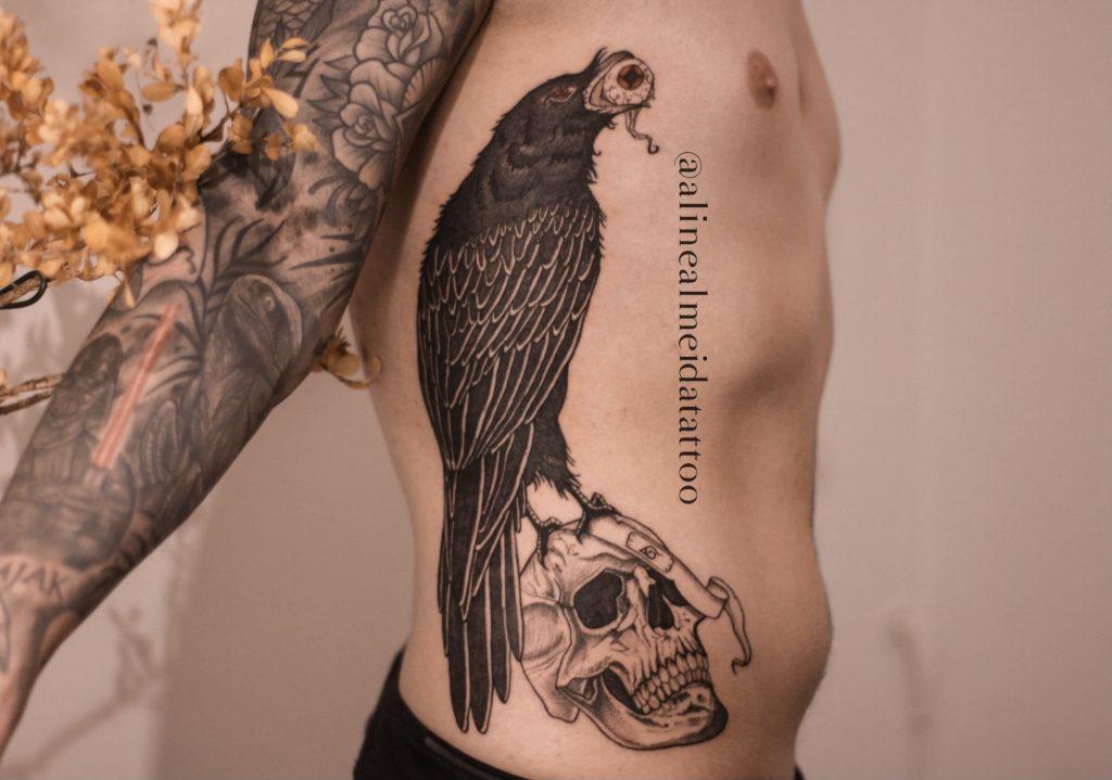 Foto de tatuagem feita por Aline Almeida (@alinealmeidatattoo)
