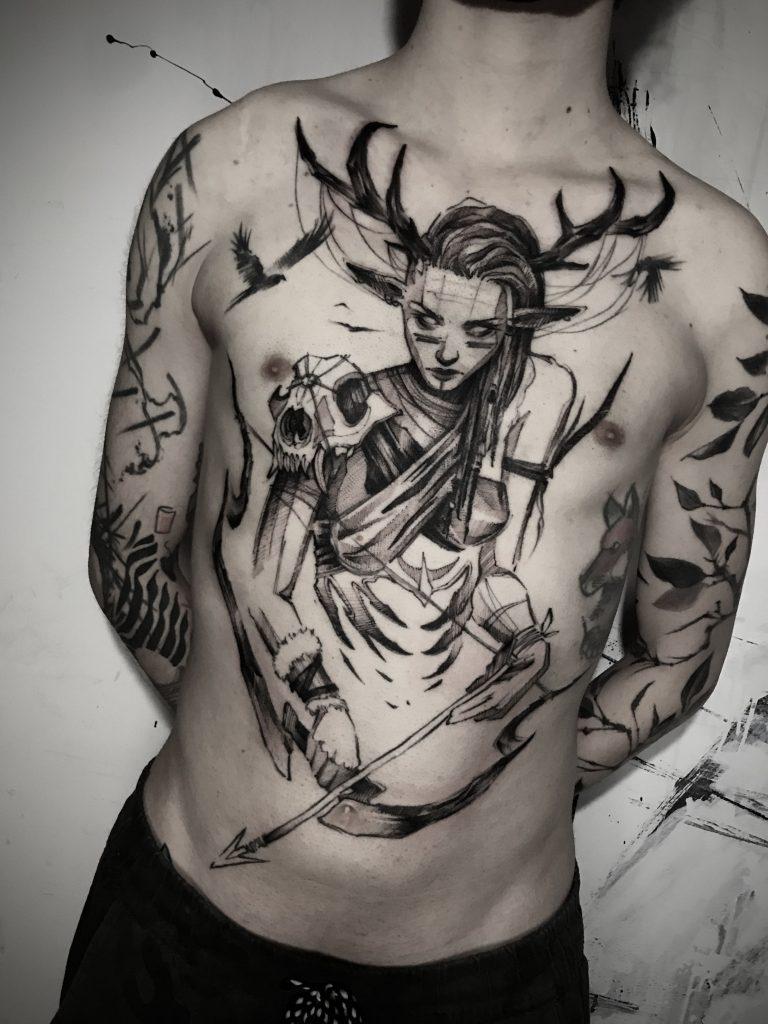 Foto de tatuagem feita por Lucas Araujo (@lucasaraujo.bp)