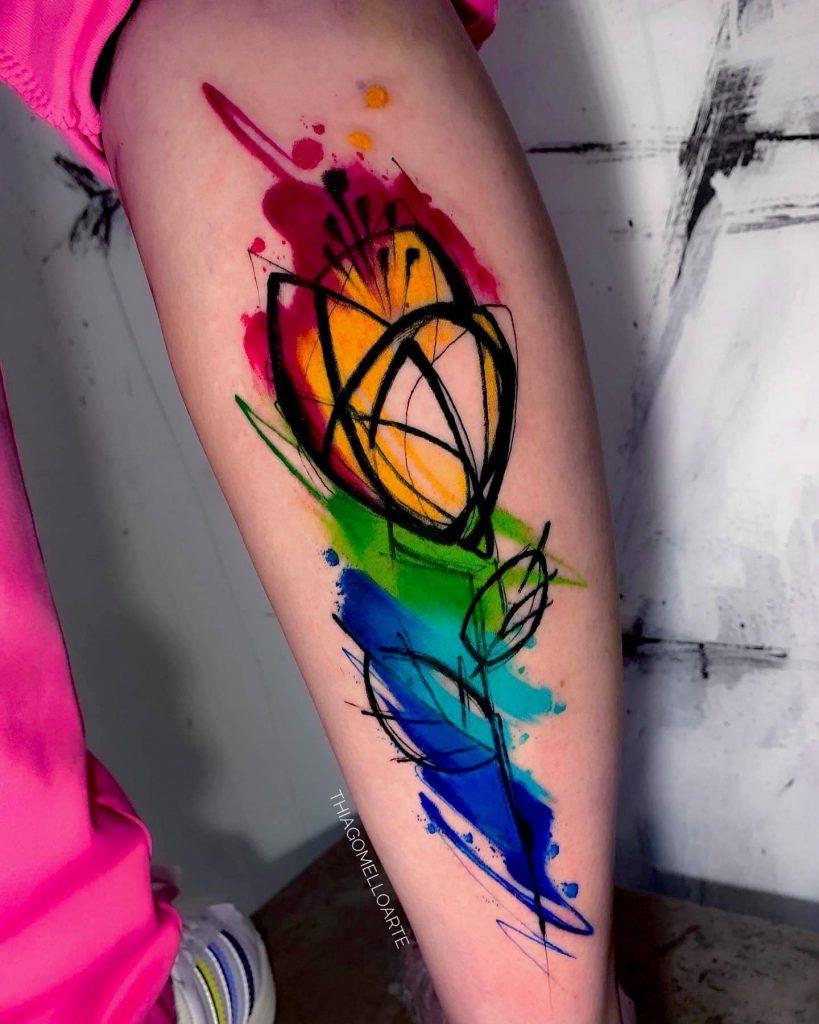 Foto de tatuagem feita por Thiago Mello (@thiagomelloarte)