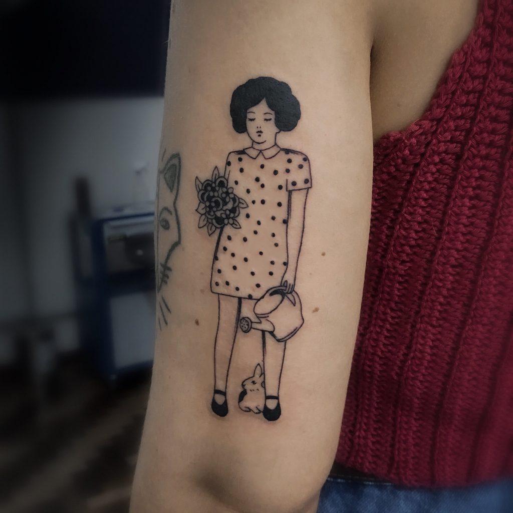 Foto de tatuagem feita por Pricila Adamski (@pricilaadamski)