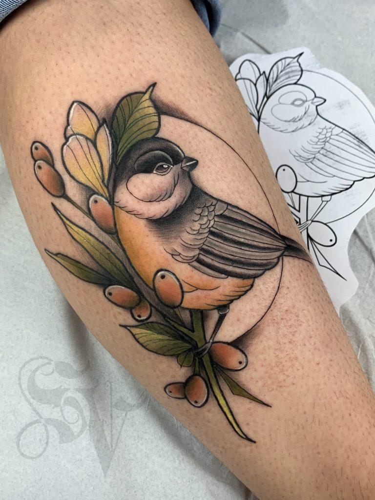Foto de tatuagem feita por Sérgio Viana (@sergiopmaink)