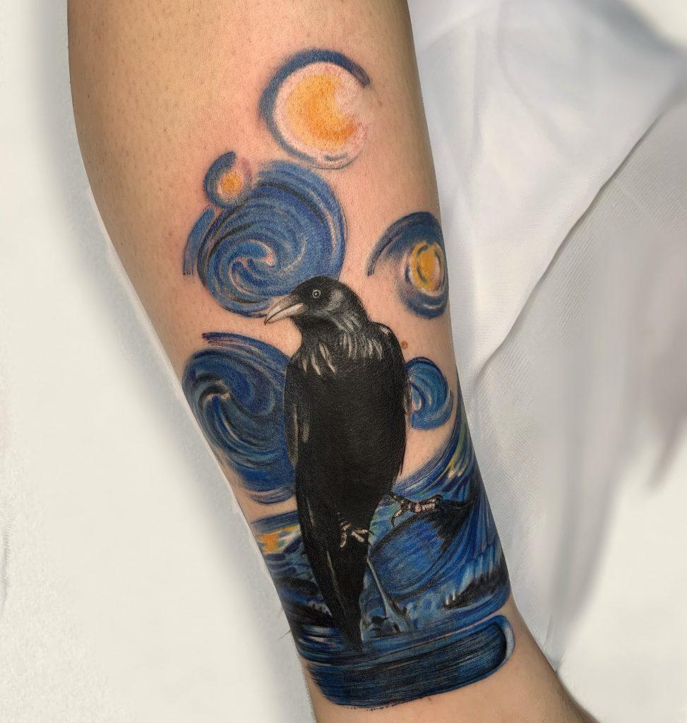 Foto de tatuagem feita por Aline Firpe (@bruxa.tattooart)