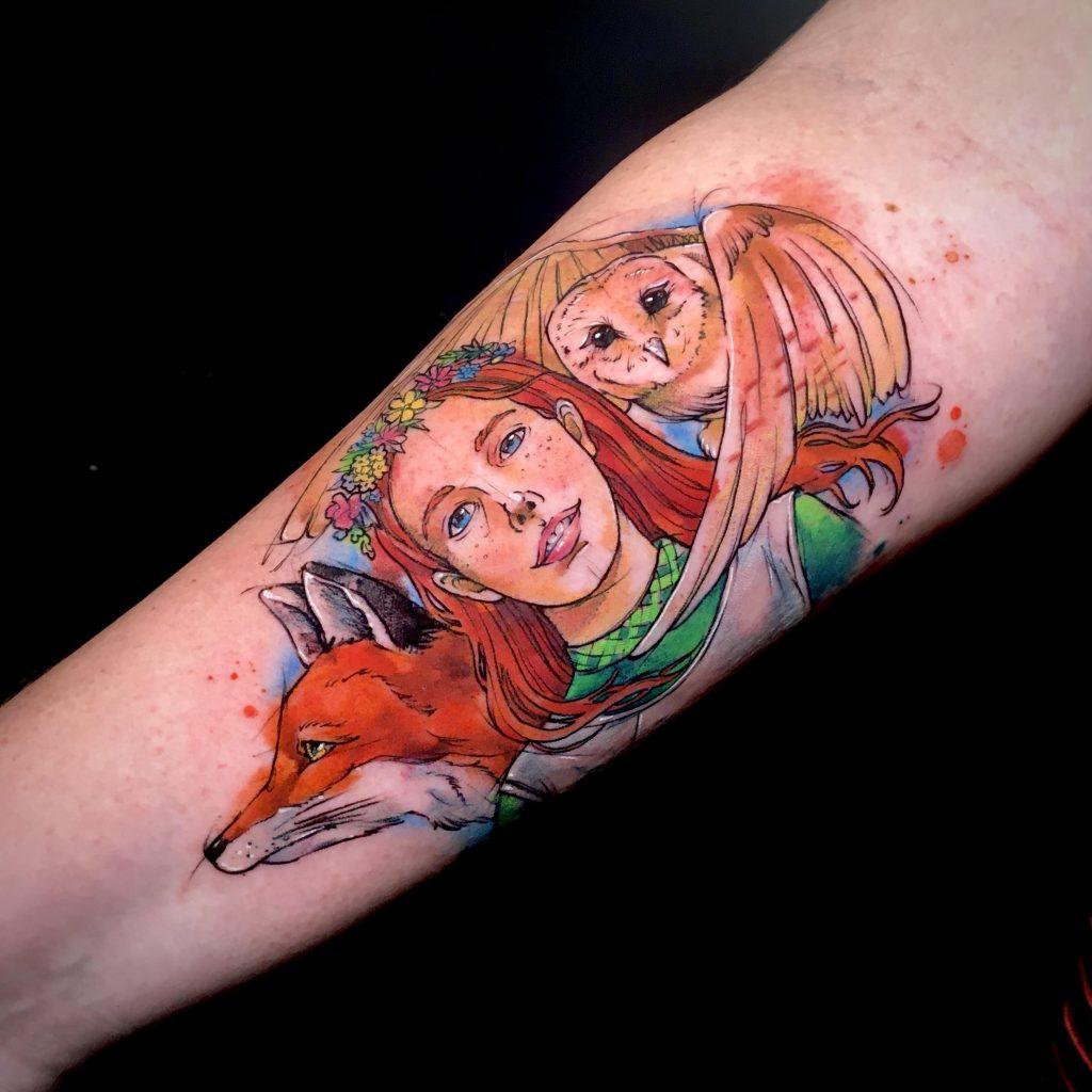 Foto de tatuagem feita por Fe Mello (@fe_mello_io)