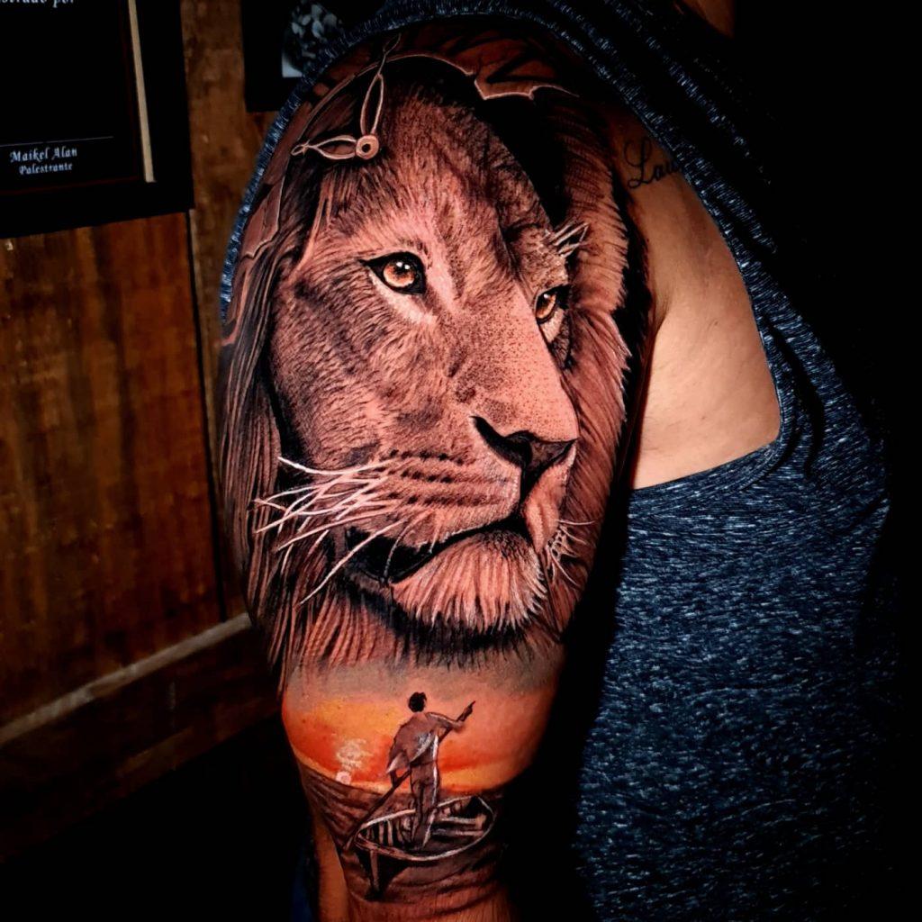 Foto de tatuagem feita por Guilherme Oliveira (@guipaistattoo)