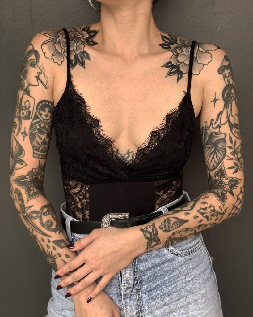 Foto de tatuagem feita por Rodrigo Salomão (@rodrigokirin)
